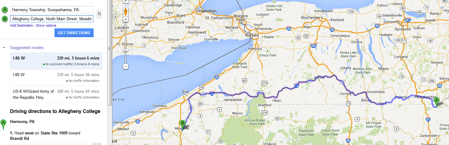 Distance from harmony township susquehanna PA to Allegheny College Meadville PA.png